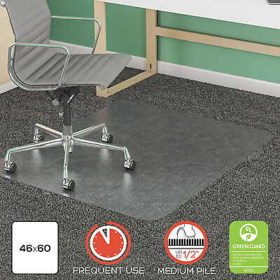 Deflecto Supermat Frequent Use Chair Mat Rectangle 46 X 60 Medium Pile Lip