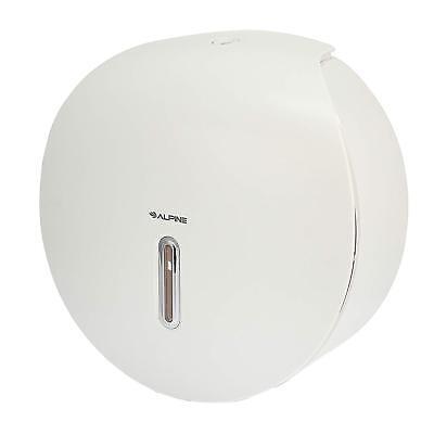 Jumbo Toilet Roll Holder - Alpine White Single Roll Jumbo Bath Tissue Dispenser Toilet Paper Holder