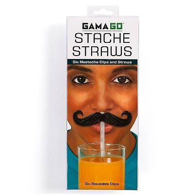 Gama-Go Stache / Mustache Reusable Straws - Set of - Moustache Straw