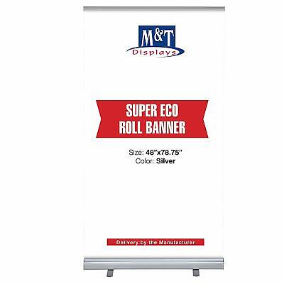 Retractable Banner Stand Portable Display Travel Banner 48x78.75 Carrying Bag