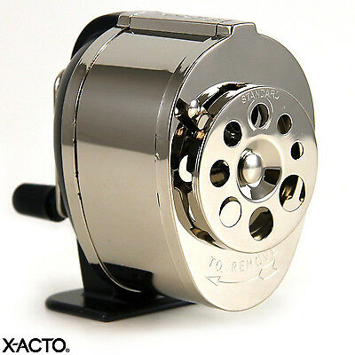 Manual Pencil Sharpener By X-acto 8 Sizes Metal Finish Wall Table Desk Mount