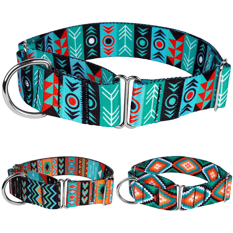 Martingale Dog Collar Adjustable Nylon Collars Heavy Duty Tr