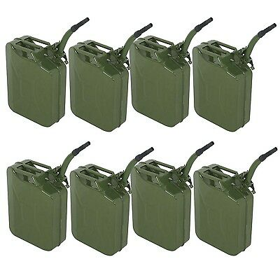 8pcs 5 Gal 20l Jerry Can Gasoline Fuel Can Emergency Backup Caddy Tank