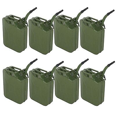 8pcs 5 Gal 20L Jerry Can Gasoline Fuel Can Emergency Backup Caddy Tank Business & Industrial