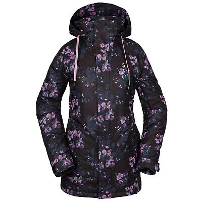 VOLCOM Womens 2020 Snowboard Snow WESTLAND INSULATED JACKET Black Floral Print