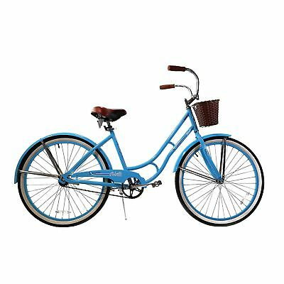 Womens Cruiser Bike Women Basket Bikes Beach 26 Inch Vintage Steel Frame Bicycle