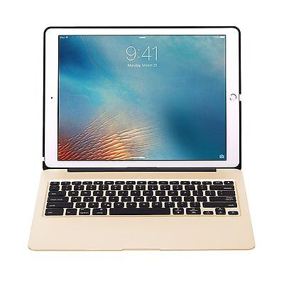 Backlight Backlit Aluminum Bluetooth Keyboard Cover Containerize For Apple iPad Pro12.9""
