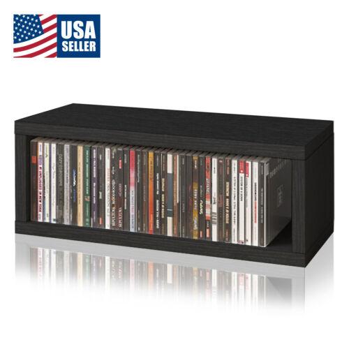 Stackable CD Rack Display Media Storage Holder Organizer Case Box, Black