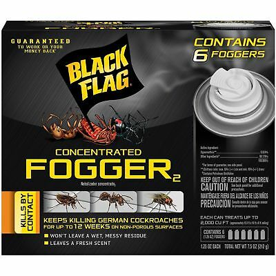 - Insect Spray 6 Foggers Bug Killer Roach Ant Spider Indoor Home Pest Control BOMB