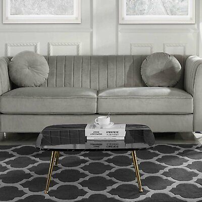 Modern Mid-Century Coffee Table with Marble Print and Gold Legs (Modern Marble Coffee Table)