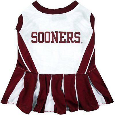 Oklahoma Kostüme (OKLAHOMA SOONERS NCAA Dog Pet Cheerleader Dress (sizes))
