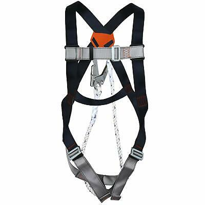 Full Body Safety Harness Fall Protection Kit With 3.2 Ft Lanyard 22kn Us Stock