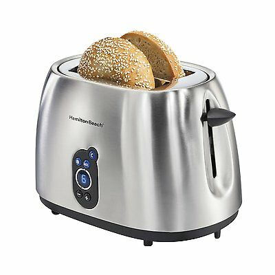 Hamilton Ground 2-Slice Stainless Steel Smudgeproof Digital Toaster | 22702