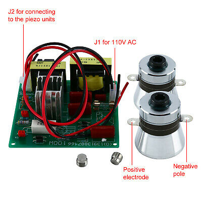 Yaeccc 110v Ultrasonic Cleaner Power Driver Board With 2pcs 50w Transducers Usa