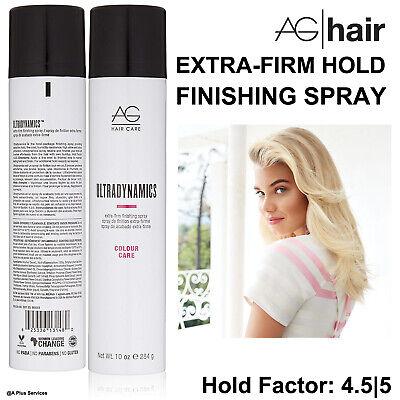 AG HAIR Colour Care ULTRADYNAMICS EXTRA-FIRM FINISHING SPRAY 10oz Paraben-Free Extra Firm Finishing Spray