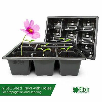 400 x 9 Cell Bedding Plant Pack Tray Inserts for Half Size Seed Trays