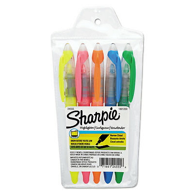 Sharpie Accent Liquid Pen Style Highlighter Chisel Tip Assorted 5set 24555