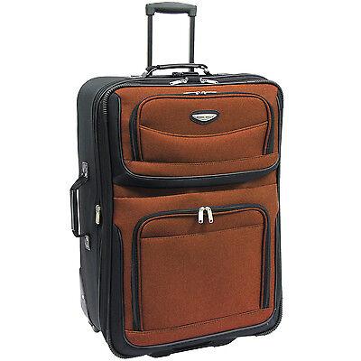 "Travel Select Orange Amsterdam 29"" Expand Rolling Luggage Suitcase Travel Bag"