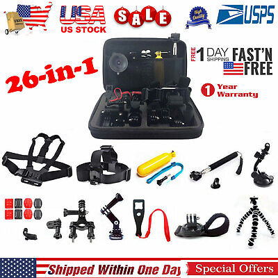 Best Accessories Kit Bundle Fit For Gopro Hero 5 4 3 2 1 Session Mount Combo