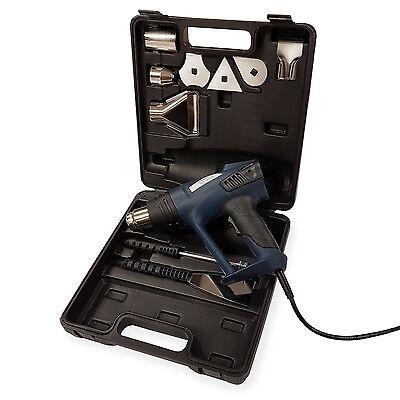 EBERTH Heißluftpistole Heißluftfön Heißluftgebläse LCD Display 2000W Set Koffer