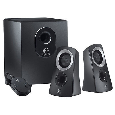 Logitech 50 Watts Computer Speaker System with Subwoofer   Black