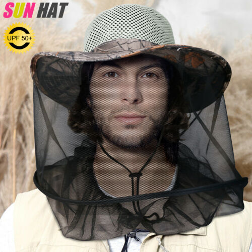 Beekeeping Beekeeper Cowboy Hat Cap Mosquito Bee Bug Mesh Insect Face Protector