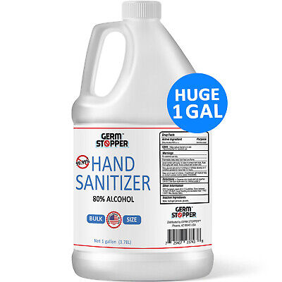 Hand Sanitizer Antimicrobial 80% Alcohol - MEETS CDC / WHO GUIDELINES - 1 GALLON