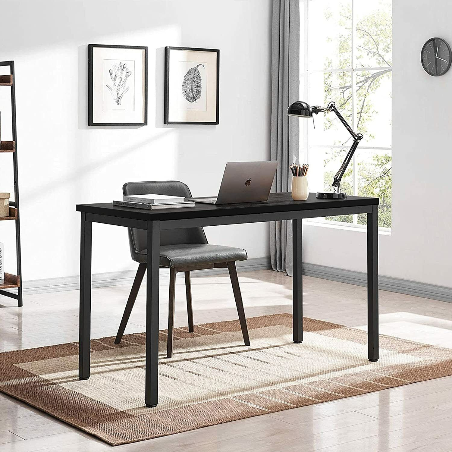Computer Student Desk, Easy Assembly, Laptop Study Table 39″ Home Office Desk Furniture
