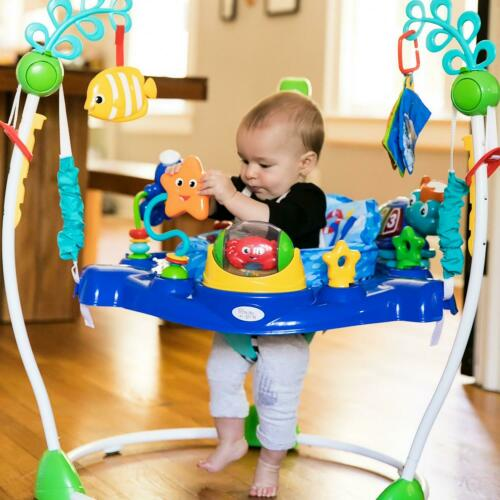 Baby Bouncer Jumper Activity Center Swivel Toys Sounds Toy Station Seat Ocean