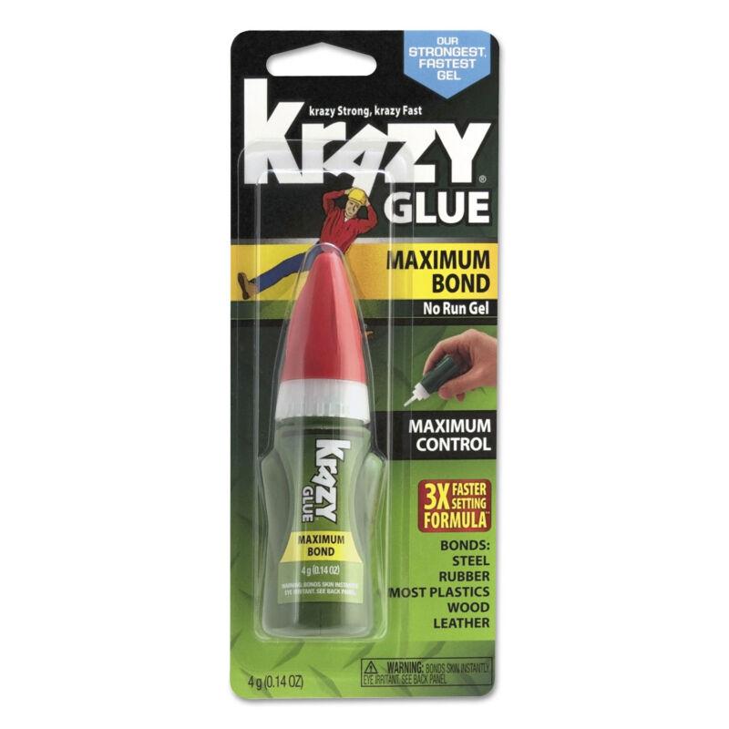 Maximum Bond Krazy Glue Clear Gel 4 g Tube KG49048MR