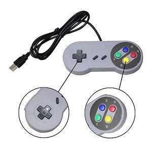1 x Retro Super Nintendo SNES USB Controller Jopypads for Win PC/MAC Gamepads