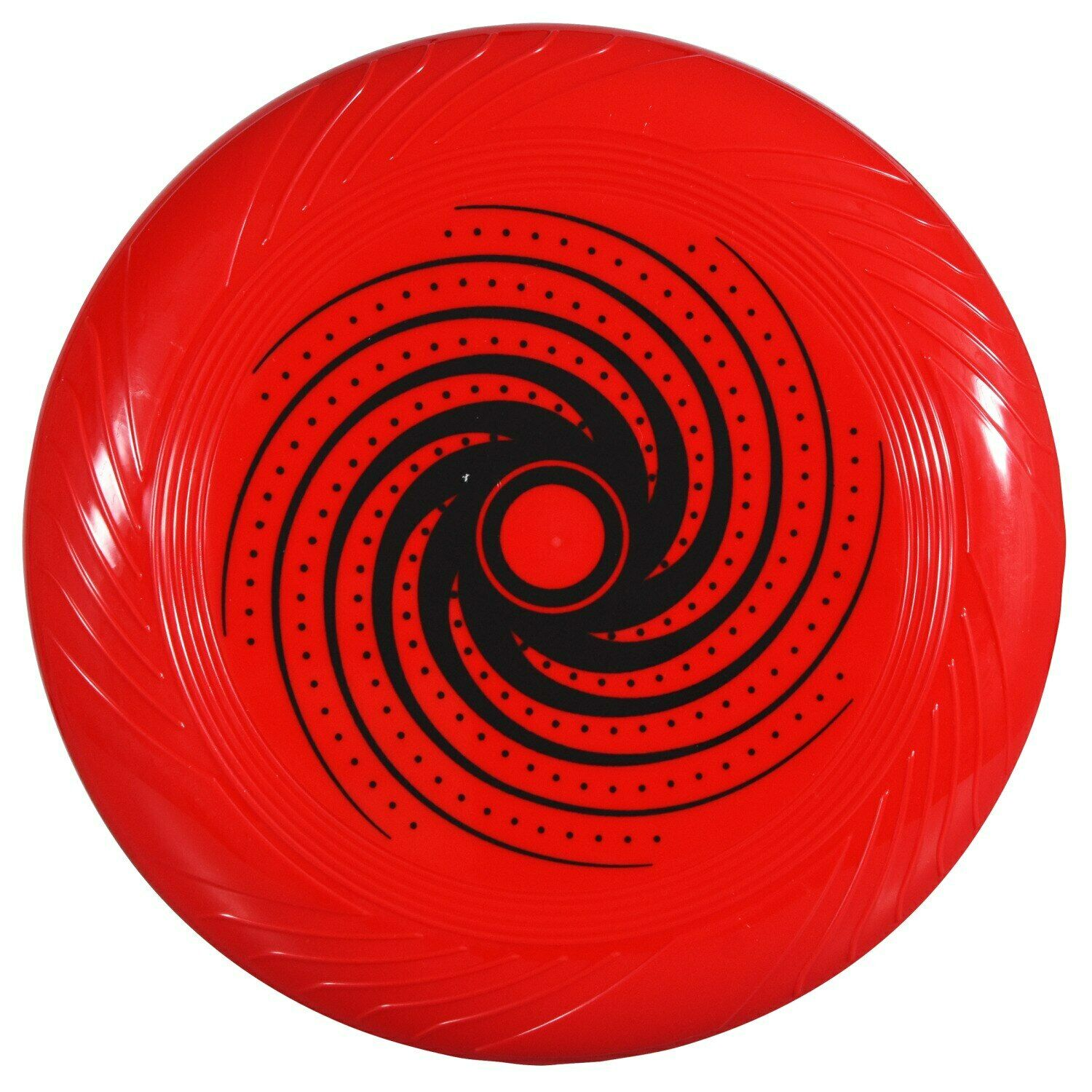"""10"""" Red with Black Swirl Print Plastic Flying Discs Frisbee"""