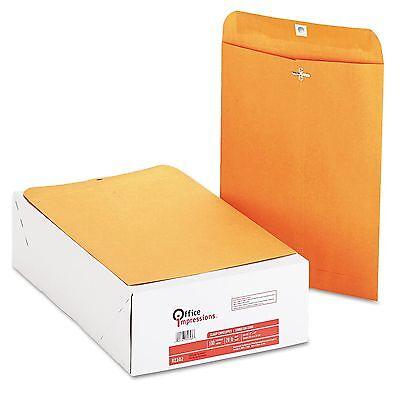 200 Business Envelopes 9x12 Kraft Clasp Manila Shipping Catalog Yellow Brown New