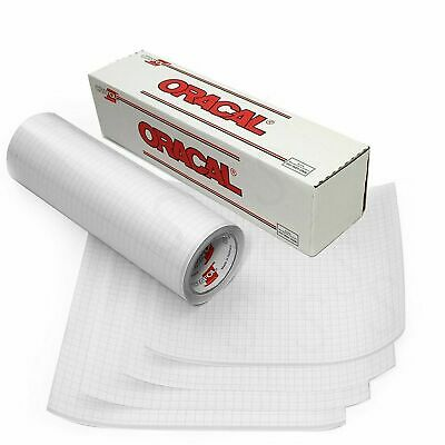 Clear Transfer Tape Roll 12 Inch X 10 Feet Vinyl Adhesive Gridded Paper New Clear Adhesive Vinyl