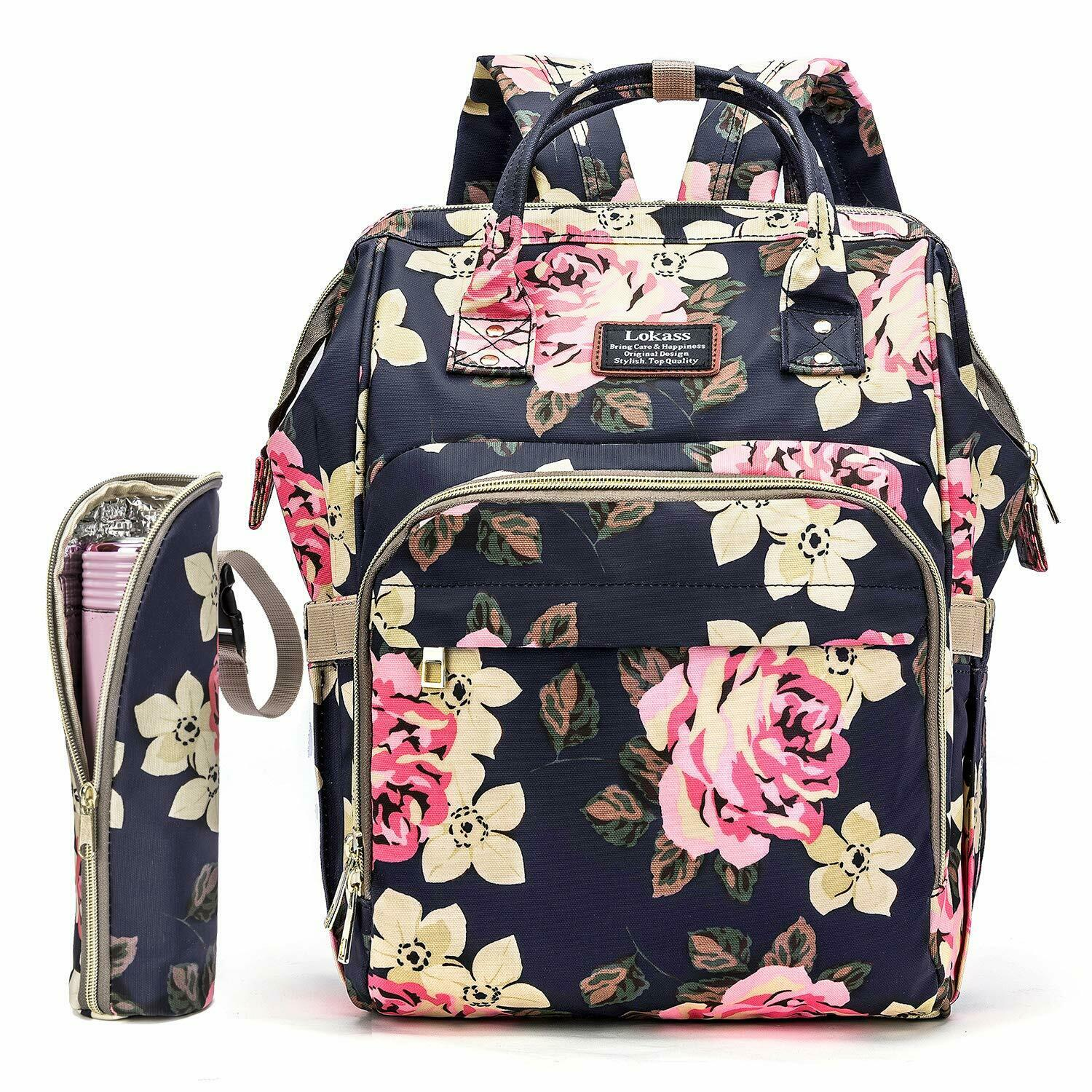 LOKASS Diaper Bag Mummy Backpack Maternity Baby Nappy Bag Wo