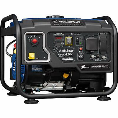 Westinghouse Igen 4200-w Quiet Portable Rv Ready Gas Powered Inverter Generator