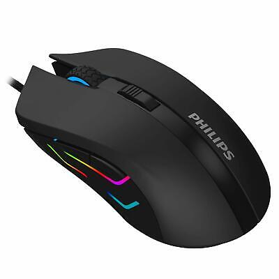 Philips SPK9313 USB Wired Optical Gaming Mouse for PC Laptop Desktop Computers