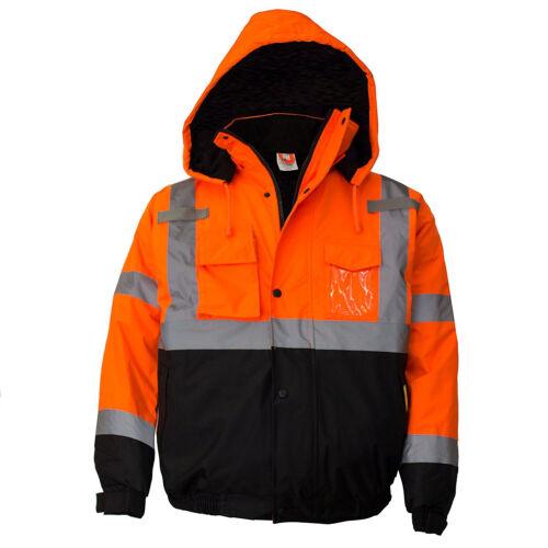 Class 3 Hi Viz Reflective Insulated Waterproof Winter Safety Jacket-WJ9011/12