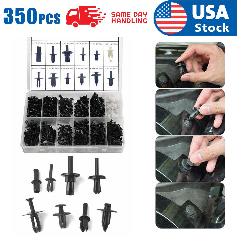 350Pcs Car Body Plastic Push Pin Clips Fender Bumper Fasteners Rivet USA for Car Car & Truck Parts