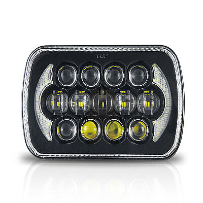 Black Projector 7x6 LED Headlight HID Light Bulbs Sealed Beam Headlamp DRL 1LAMP