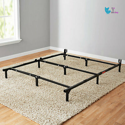 Bed Frame Assembly - Bed Frame Metal Adjustable Easy Assembly No-Tools Twin Full Queen Sizes Durable