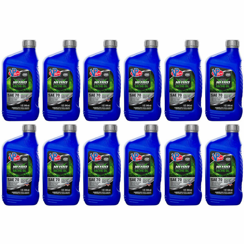 VP Racing Nitro High Performance SAE 70 ZDDP Enhanced Racing Oil, Blue (12 Pack)