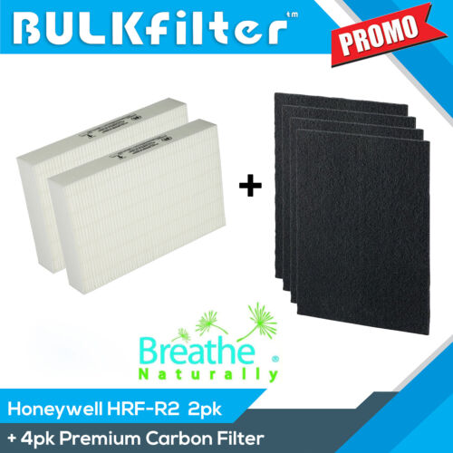 HEPA Bundle for Honeywell HRF-R2 Hpa200 Series Purifiers with 4pk Carbon Filters
