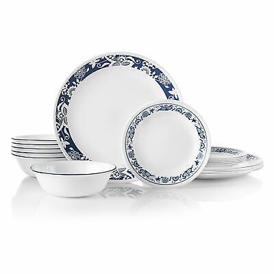 New Corelle 1134333 18 Piece Dinnerware Dining Set, True Blue