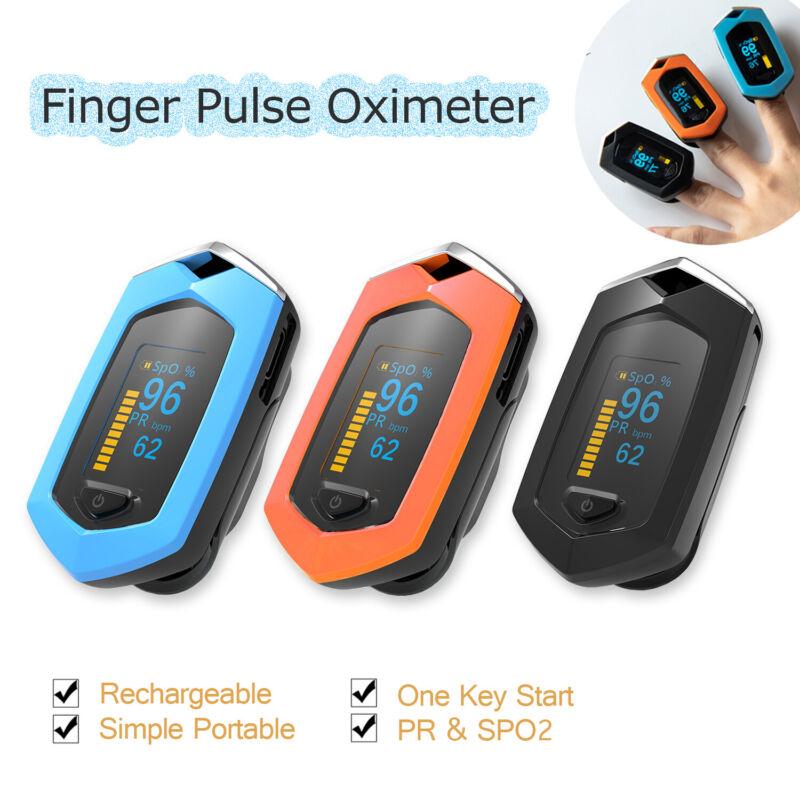 Rechargeable Finger Pulse Oximeter Spo2/PR Blood Oxygen Heart Rate Monitor