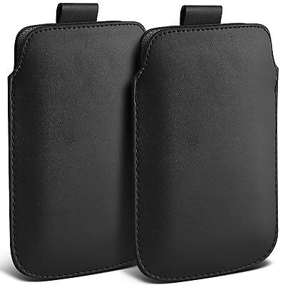 Twin Pack PU Leather Pull Tab Case Cover Pouch For Motorola Nexus 6