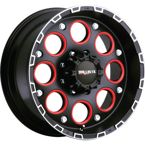 17x9 Black Ballistic Enigma 6x135 +12 Wheels Trail Grappler 37X12.5X17