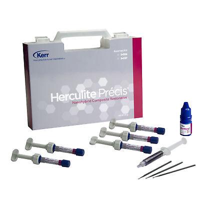 Kerr Herculite Precis Composite Restorative Kit 5 Syringes Optibond S 2 Gel