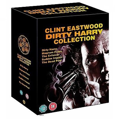 ection Box UNCUT Set dvd NEU 6 dvd 1 2 3 4 5  Clint Eastwood (Dirty Harry)