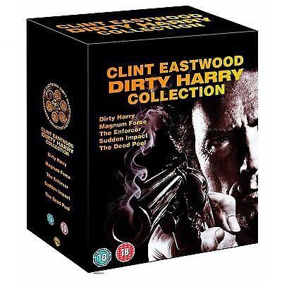 Dirty Harry 1-5 Collection Box UNCUT Set dvd NEU 6 dvd 1 2 3 4 5  Clint Eastwood